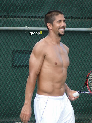 Fernando Verdasco Shirtless at Cincinnati Open 2011