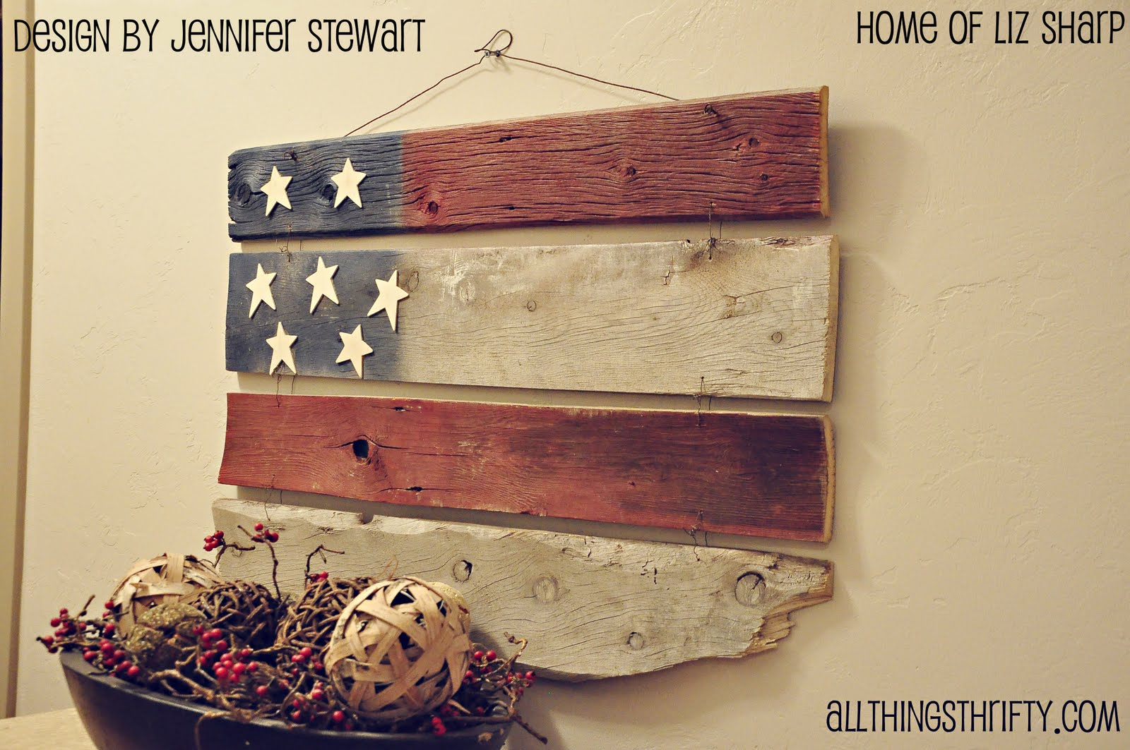 Barn wood americana decor for Craft ideas from wood