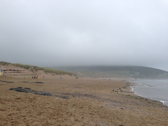 A misty Croyde Bay