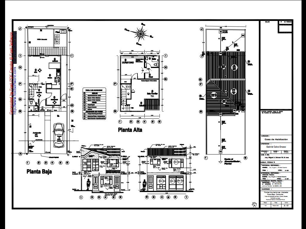 Arq miguel a salazar m asociados casas de tipo medio for Planos tecnicos arquitectonicos