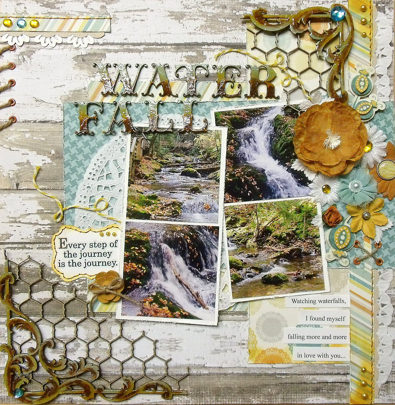 Scrap utopia waterfall sketchabilities dt reveal 68 for Waterfall design in scrapbook