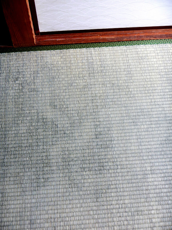 mold on Japanese straw mat