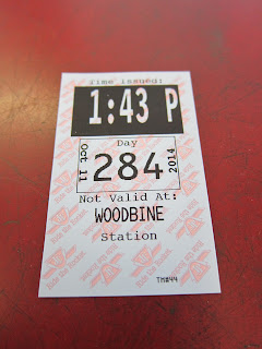Transfer for Woodbine station in Toronto