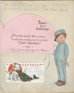 Vintage Baby book, Baby book filled out, 1930