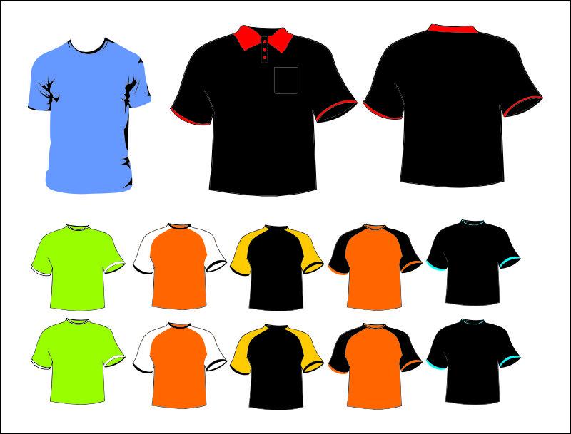 Alguns Modelos De Camisas Desenhados Em Vetor Cdr Coreldraw Versao X3