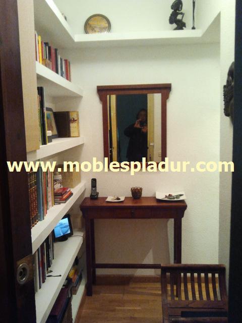 Pladur barcelona pladur estanterias recibidor - Estanteria recibidor ...