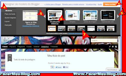 Trocar o blogspot para versão dinâmica do blogger ou retornar para o modelo padrão