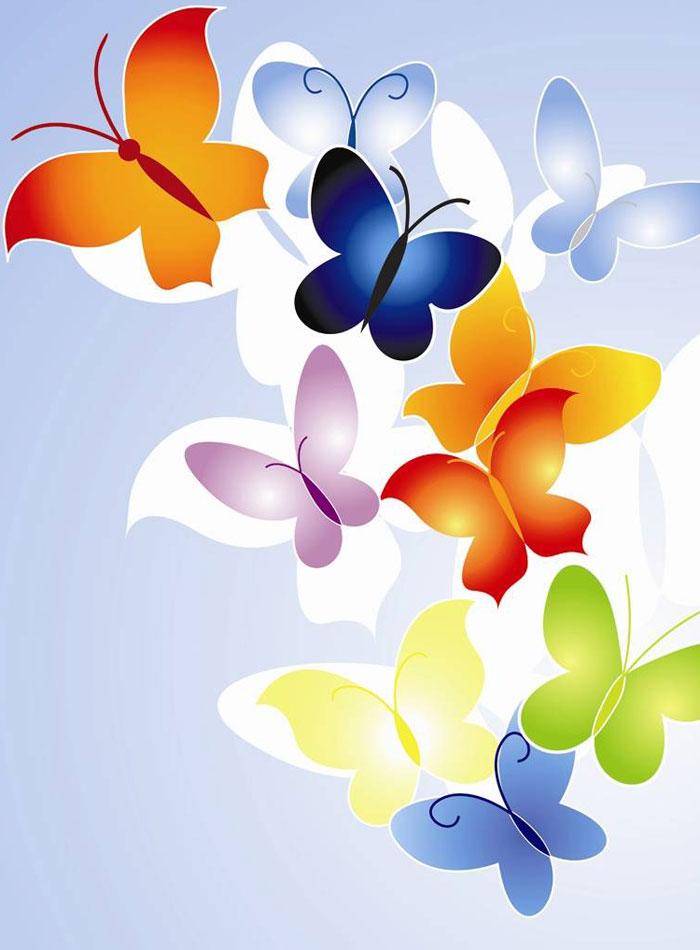 Mi colección de dibujos: ? Mariposas en colores ?