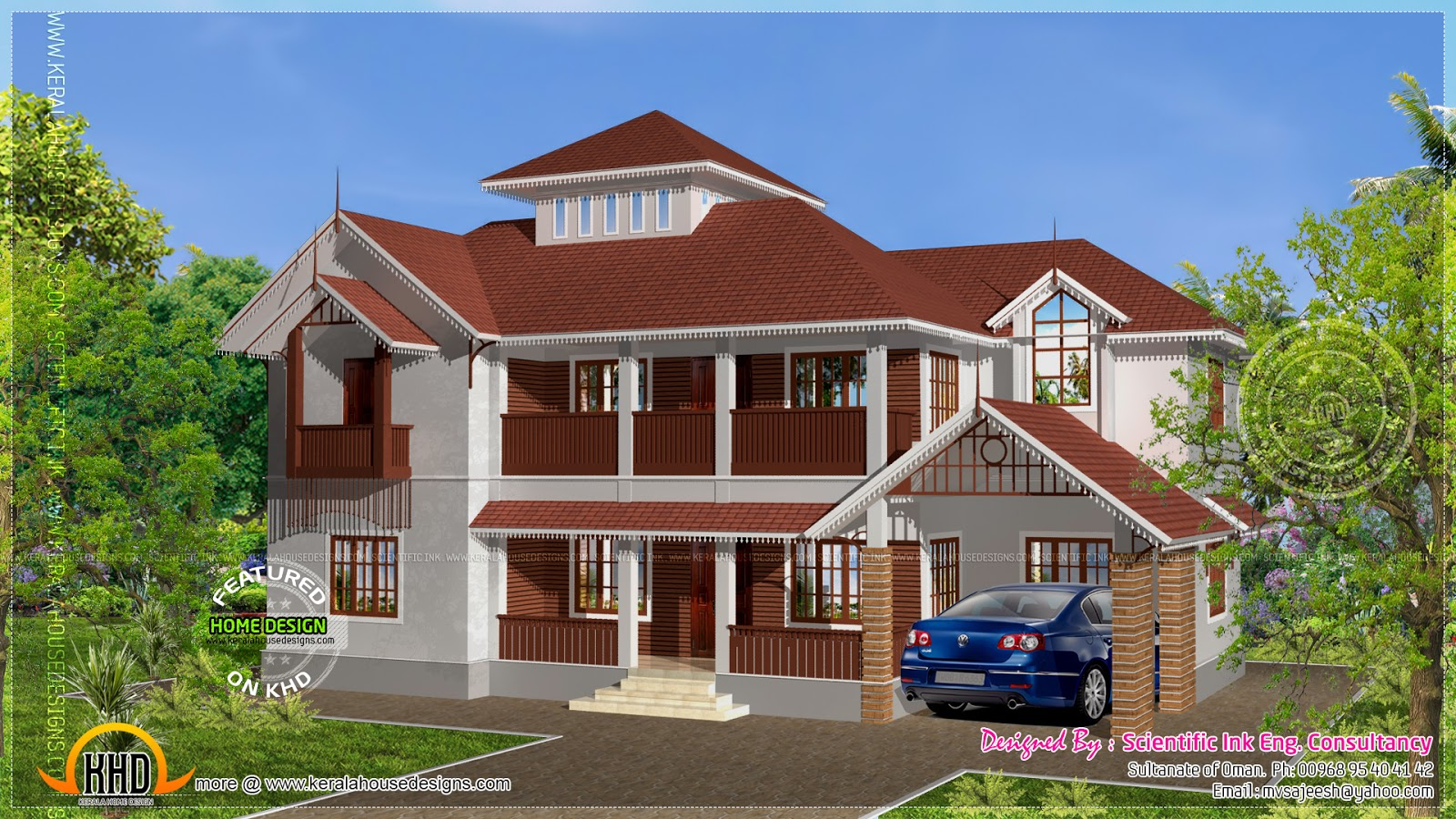Roof Floor Elevation : February kerala home design and floor plans