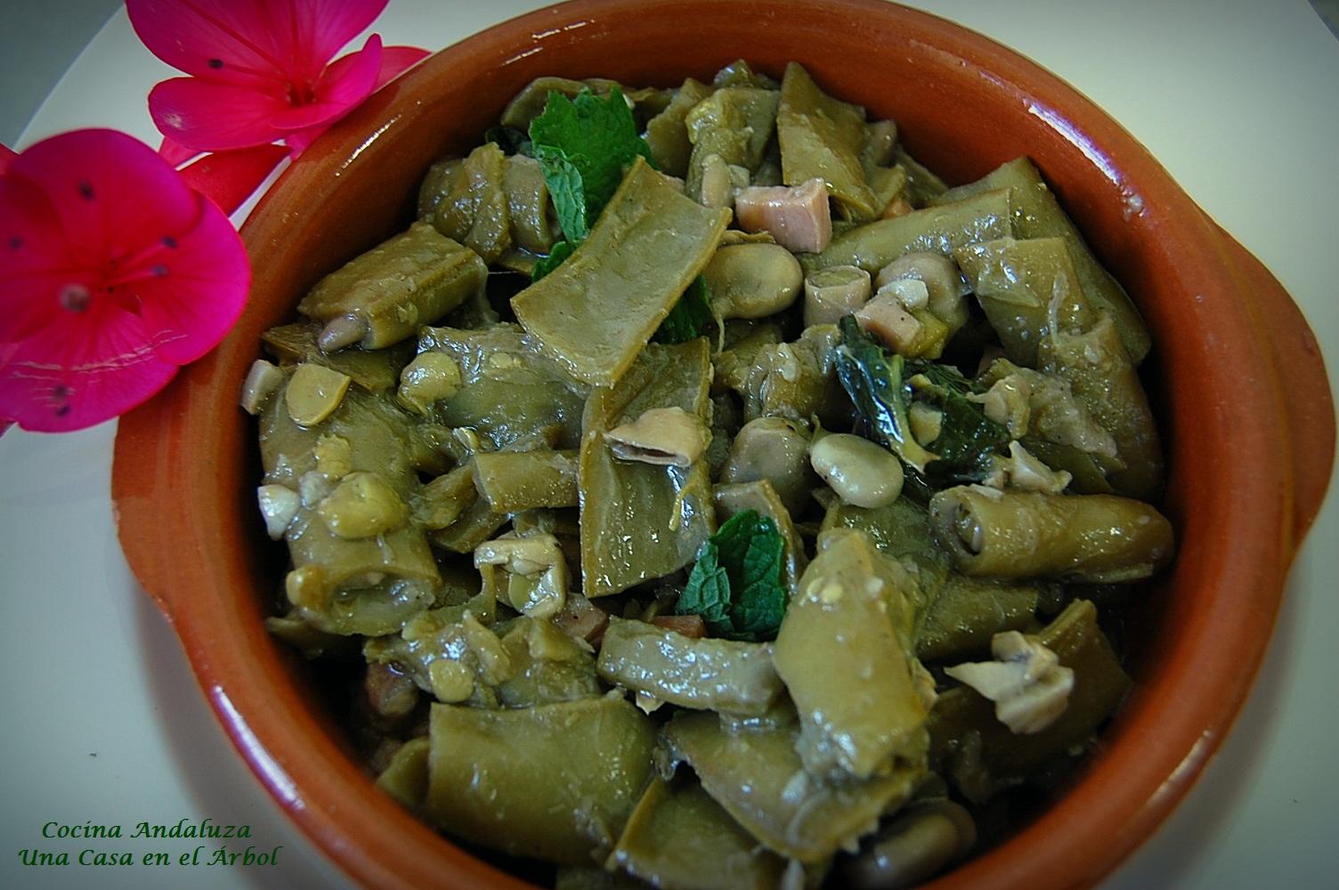 Cocina andaluza habas con c scaras - Habas frescas con jamon ...