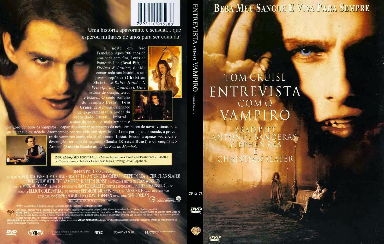 Filme Entrevista com o Vampiro DVD Capa