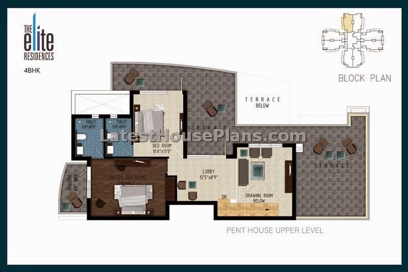 3105 Sqft Duplex 4 Bhk Penthouse Floor Plans Latest