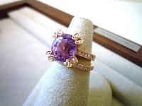 ピンクゴールドとダイヤモンドをあしらって華やかなリングにリスタイル(リメイク)されました。