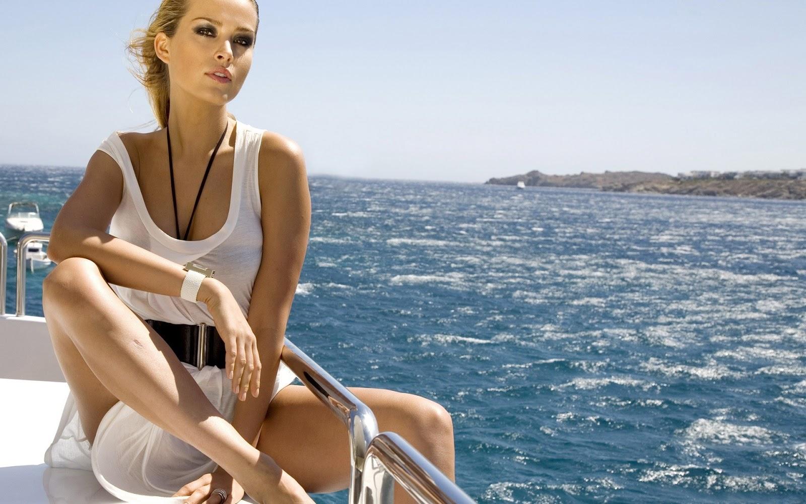 Petra Nemcova on the Boat