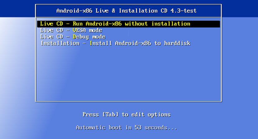 Prueba Android x86 para PC con este Live CD