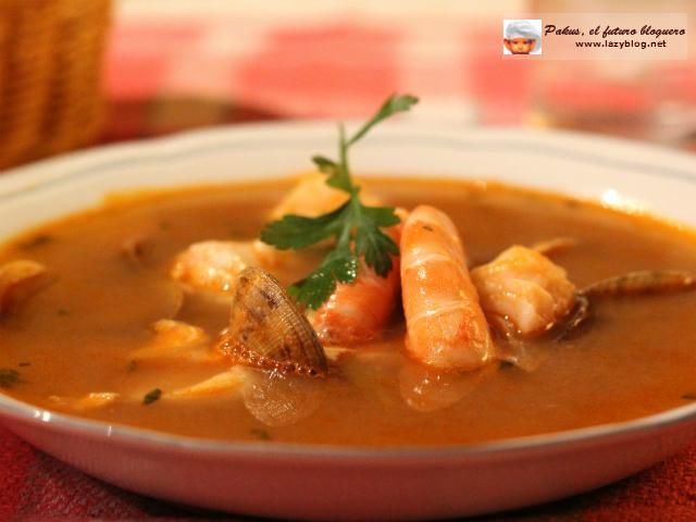 Lazy blog sopa de pescado y marisco de navidad receta - Sopa de marisco y pescado ...