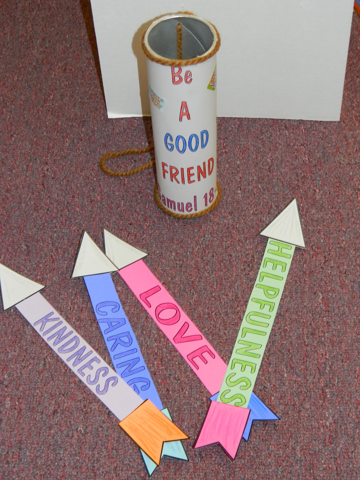 hands on bible teacher best friends david and jonathan ForDavid And Jonathan Friendship Craft