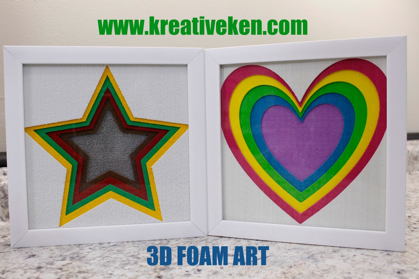 3D FOAM FRAMES WITH BONUS PROJECT | Ken\'s Kreations