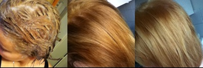 Blondierte haare orange nochmal blondieren