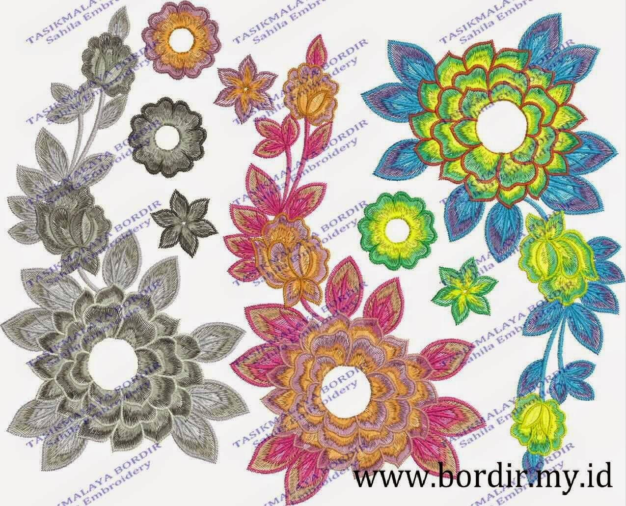motif bunga bordir