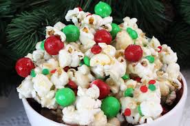 Festive popcorn for the movies!!