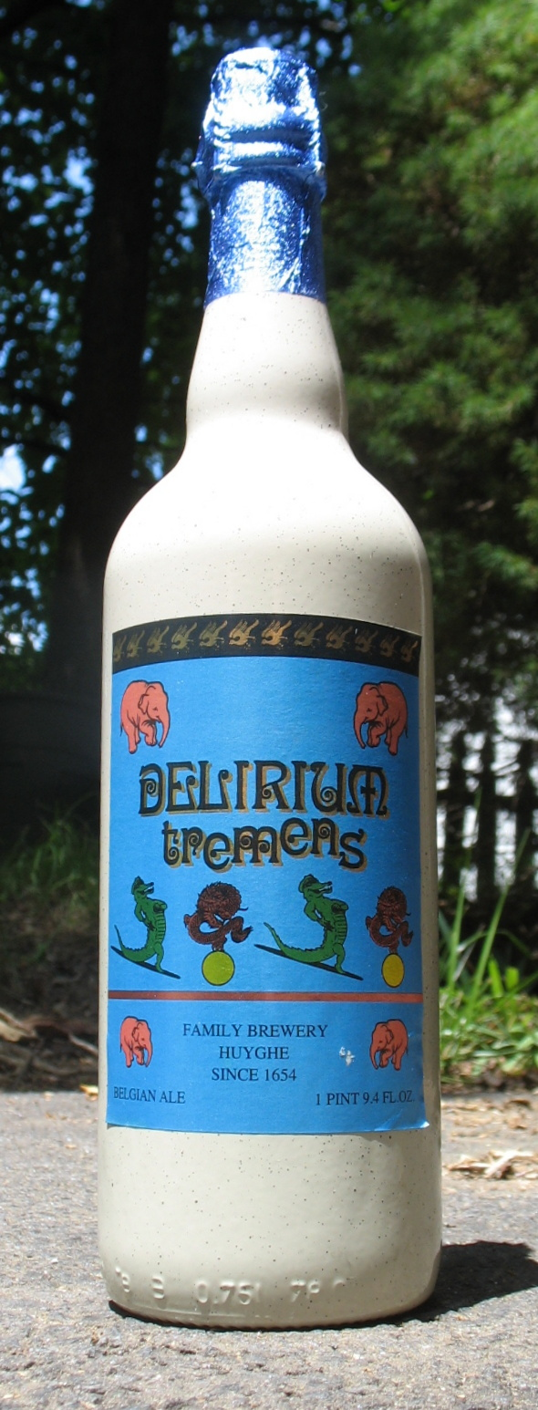 750ml bottle of Delirium Tremens Beer