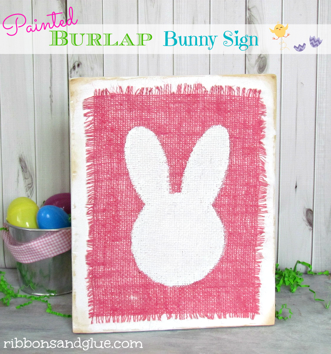 How to make a Burlap Bunny Sign