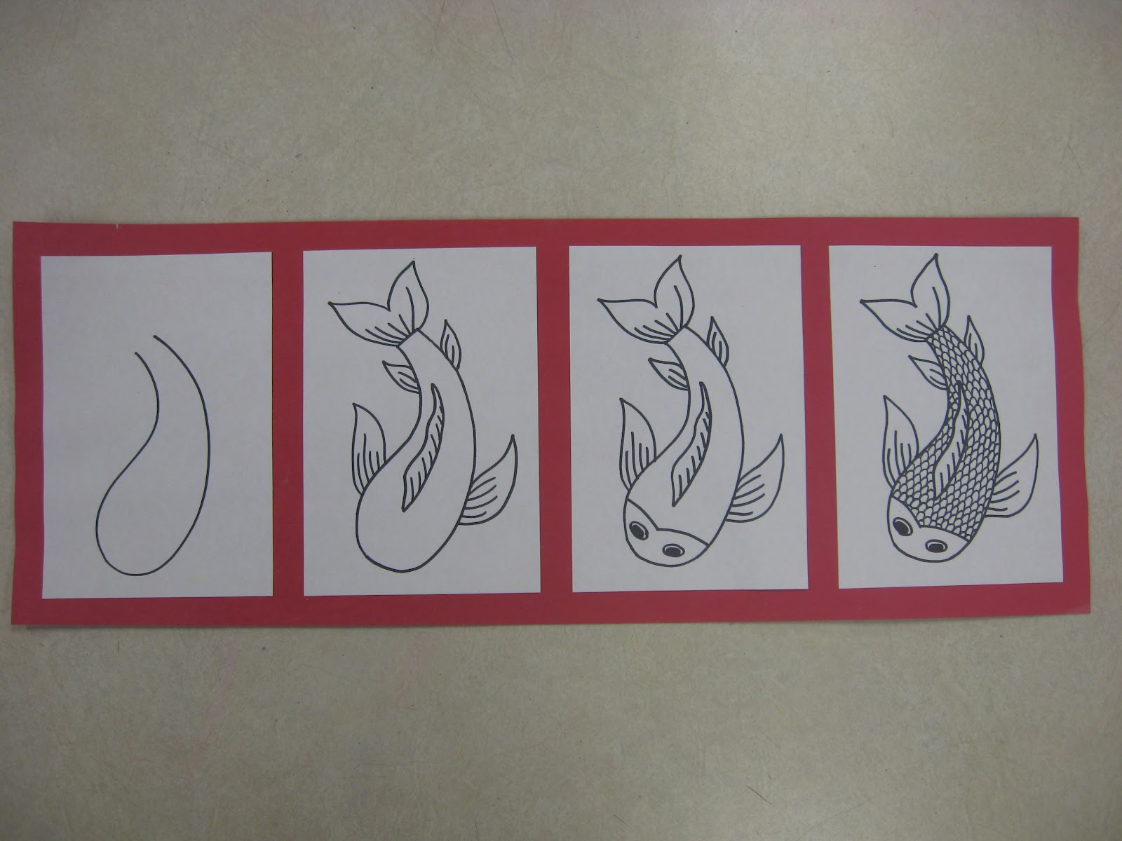 Miss young 39 s art room 6th grade koi fish printmaking for Looking after koi