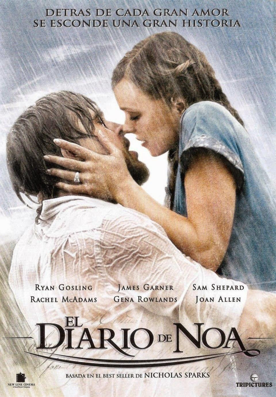 Película  y libro El diario de Noa (The Notebook) - Nicholas Sparks