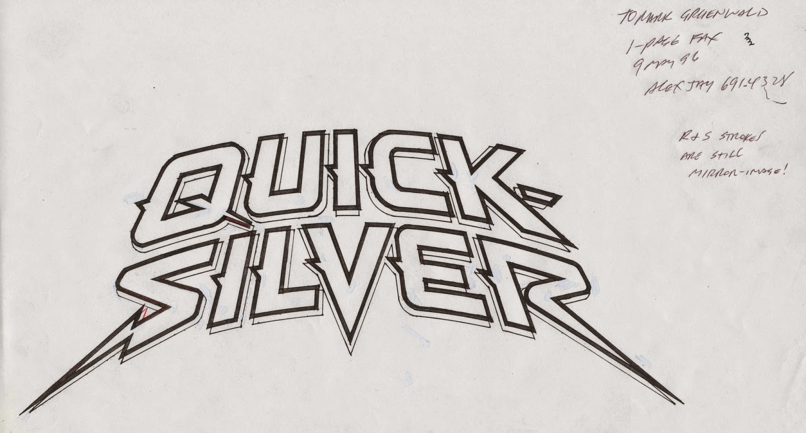 Quicksilver Marvel Logo Tenth Letter of...