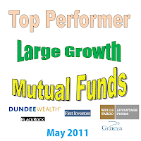 Top Performer Large Cap Growth Mutual Funds May 2011