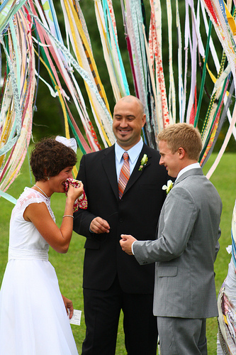 Wedding Ribbons Ceremony Decor