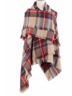 plaid scarf banggood