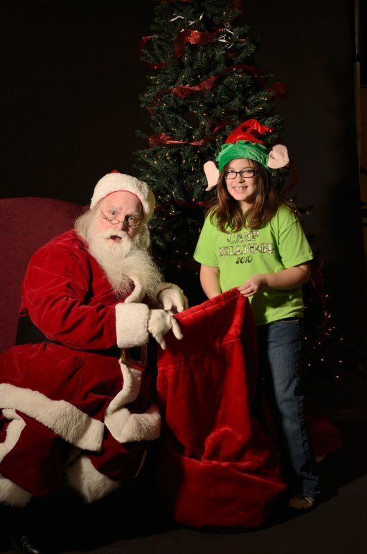 Santa in old-fashioned costume for Santa's Elves of Indy