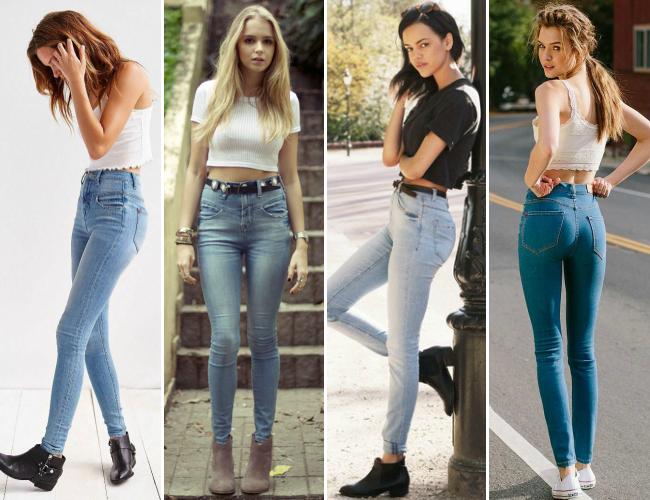 Looks com jeans cintura alta