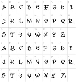 Tatuaggi lettere alfabeto tatuaggi lettere alfabeto for Idee tatuaggi lettere