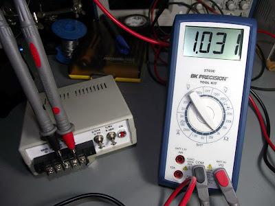 Teste de resistência - Multimetro BK