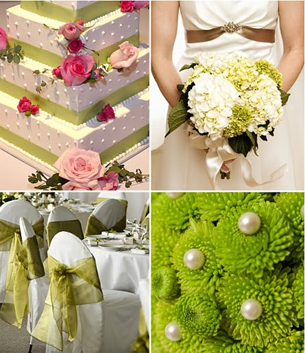 Main Color Green June Wedding Inspirations