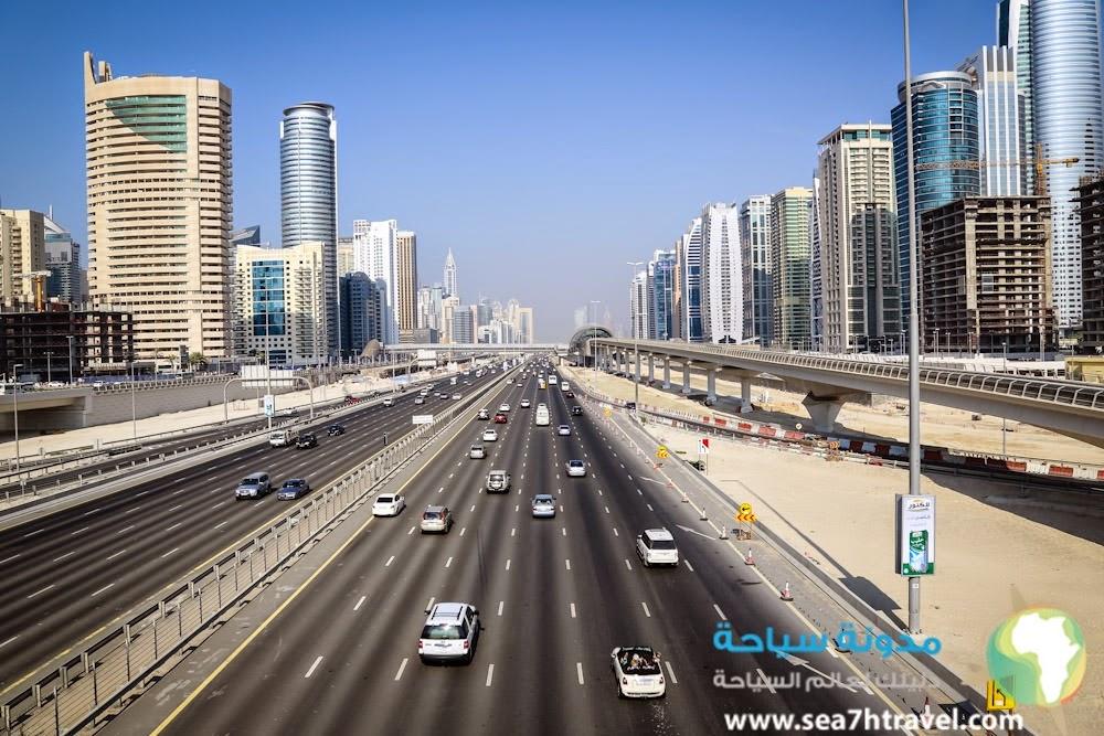 شارع الشيخ زايد اهم شارع في الخليج !