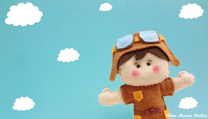 Topo de bolo menino aviador