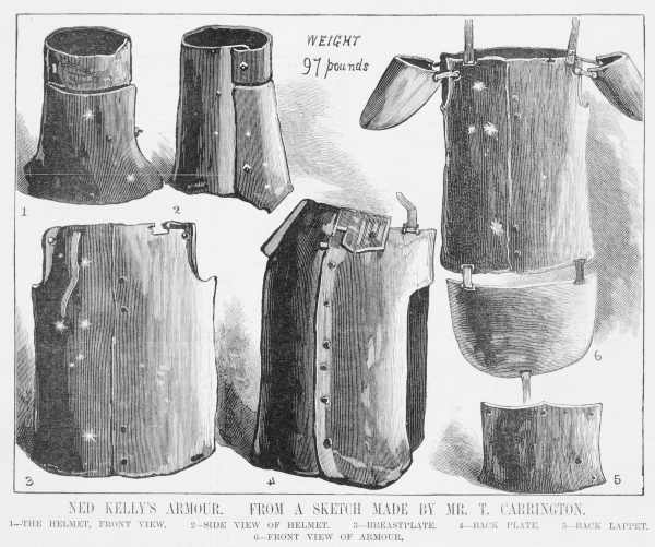 Bytes ned kelly part 11 ned kellys armour front and rear views pronofoot35fo Images