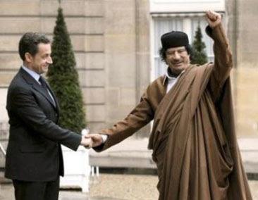 Sarcozy Gheddafi