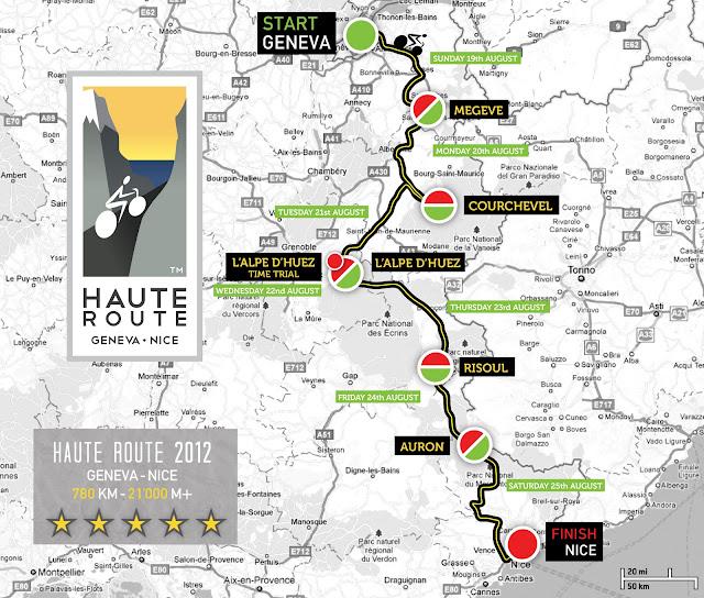 carte generale de la haute route 2012