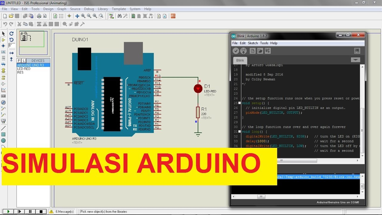 Cara Mudah Melakukan Simulasi Arduino Dengan Proteus Auto Phase Angle Pf Circuit Sonsivri Electra Semarang