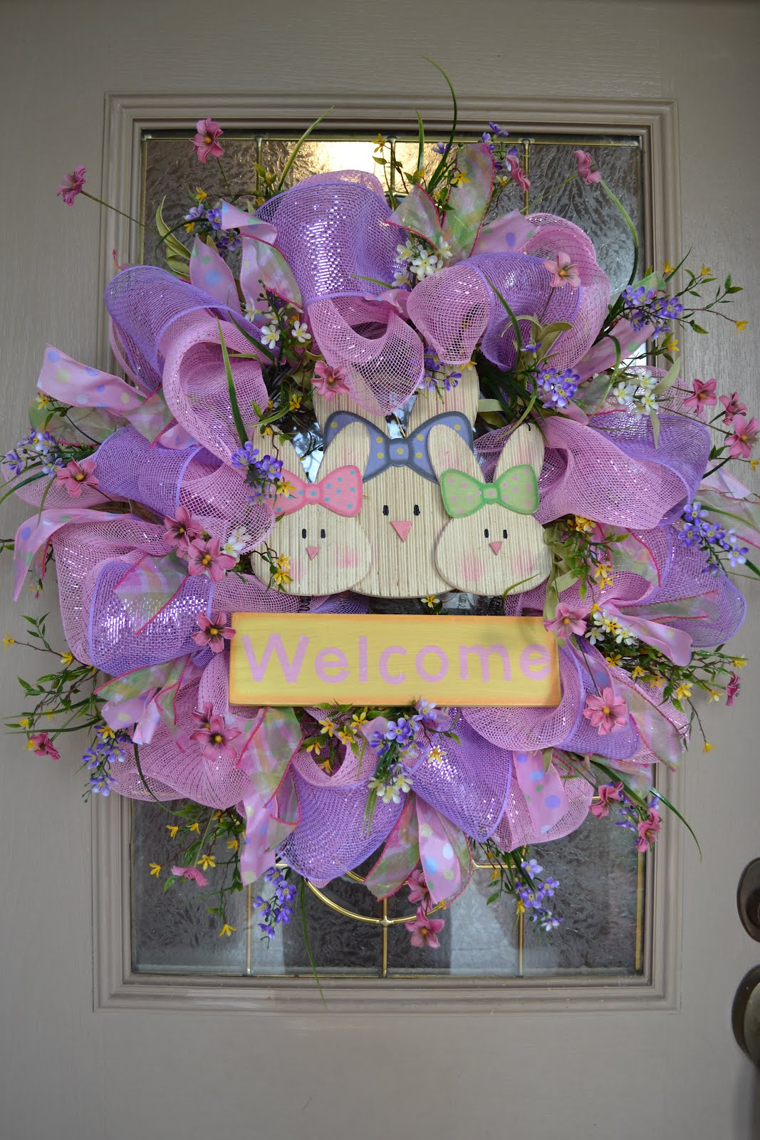 Kristen 39 S Creations Easter Mesh Wreath Tutorial 2012