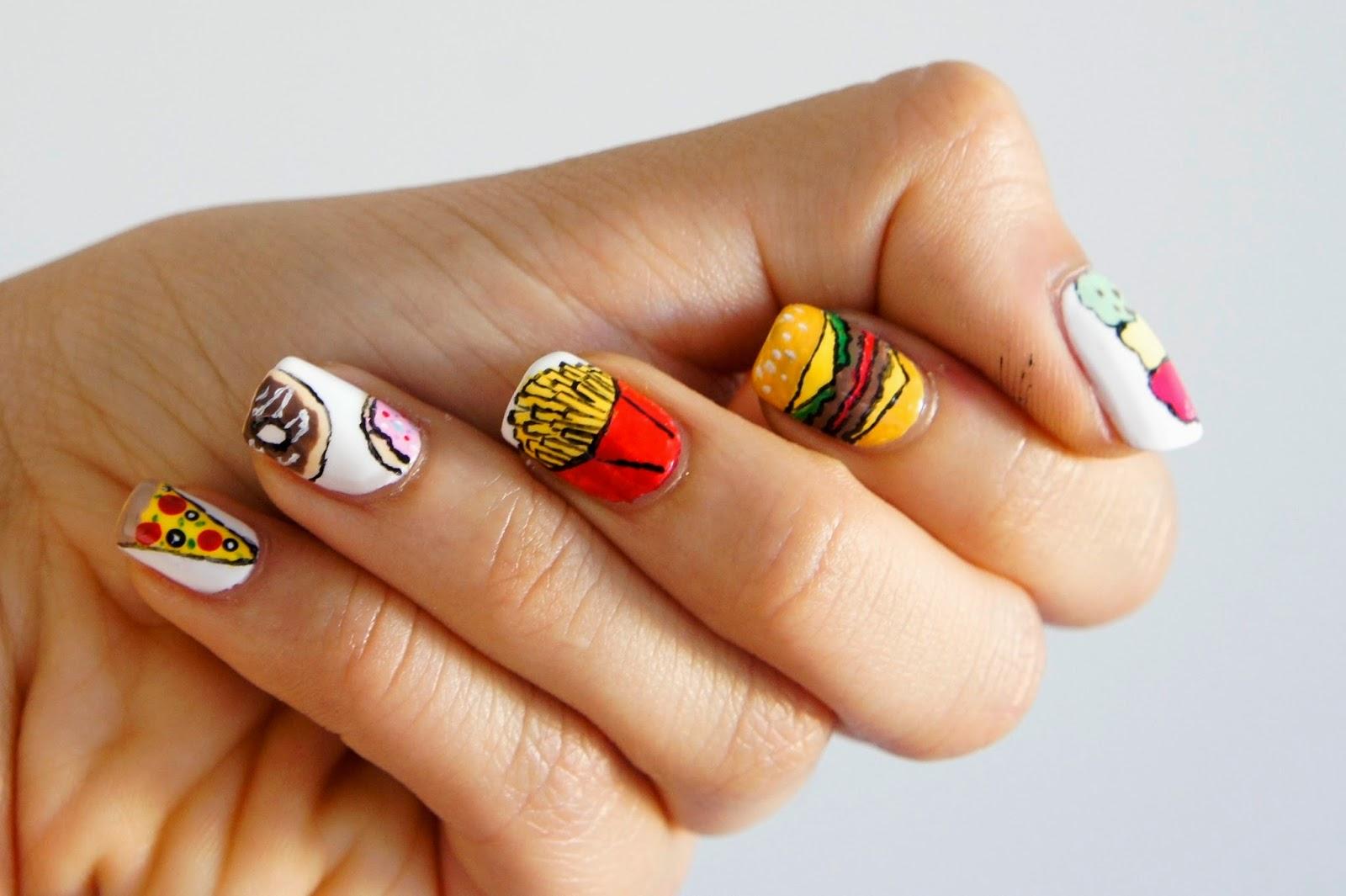 junk food nail art