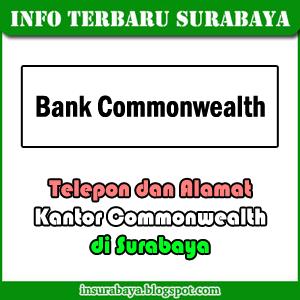 telepon alamat kantor bank Commonwealth di Surabaya