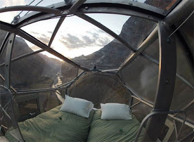 The Most Terrifying Hotel In The World Skylodge  Inside