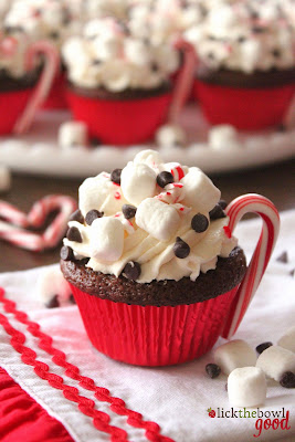 Hot Cocoa Cupcakes for People.com!