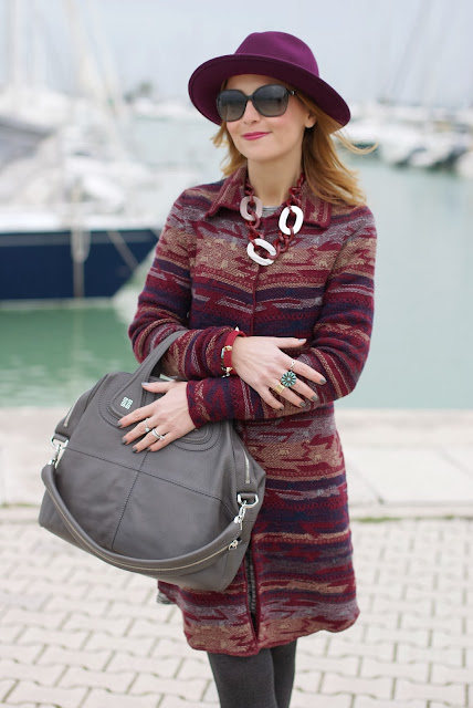 Jacquard coatigan, Ecua-Andino wool hat, Givenchy Nightingale bag, Fashion and Cookies, fashion blogger